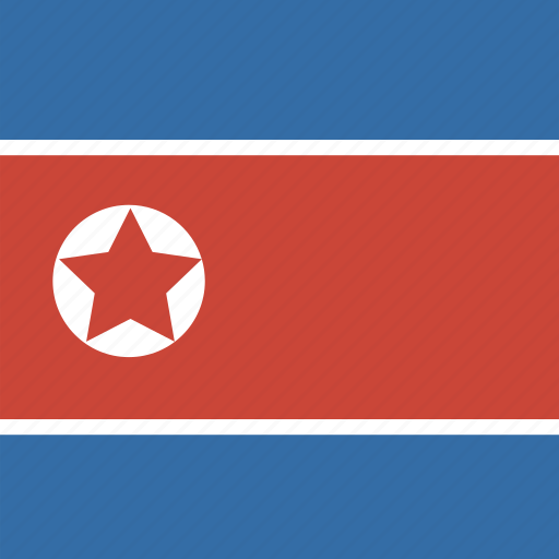 flag, korea, north, square icon