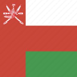 flag, oman, square icon
