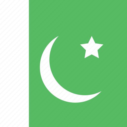 flag, pakistan, square icon