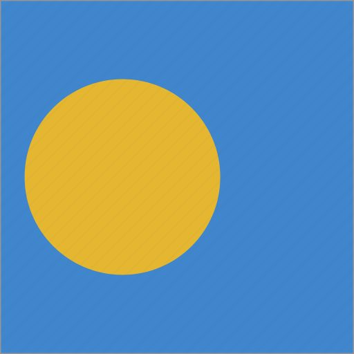 flag, palau, square icon