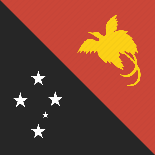 flag, guinea, new, papua, square icon