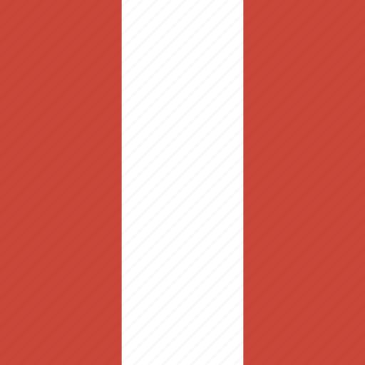 flag, peru, square icon