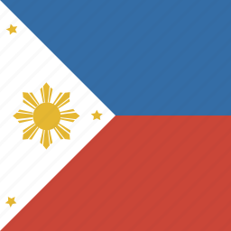 flag, phillipines, square icon