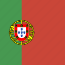 flag, portugal, square icon