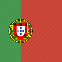 flag, portugal, square icon