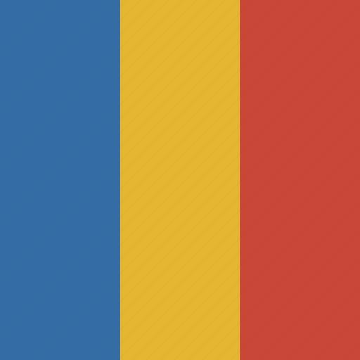 flag, romania, square icon