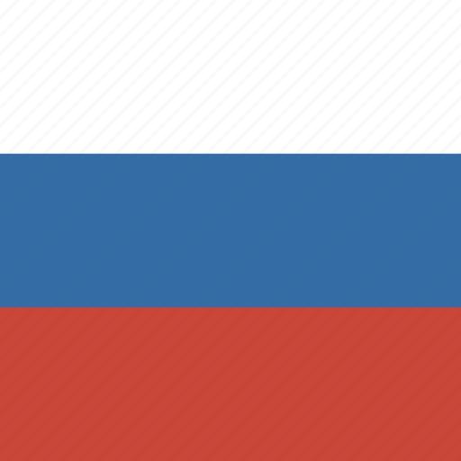 flag, russia, square icon