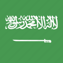 arabia, flag, saudi, square icon