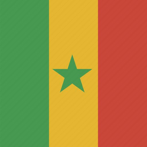 flag, senegal, square icon