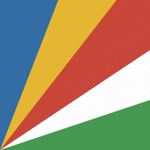 flag, seychelles, square icon