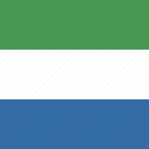 flag, leone, sierra, square icon