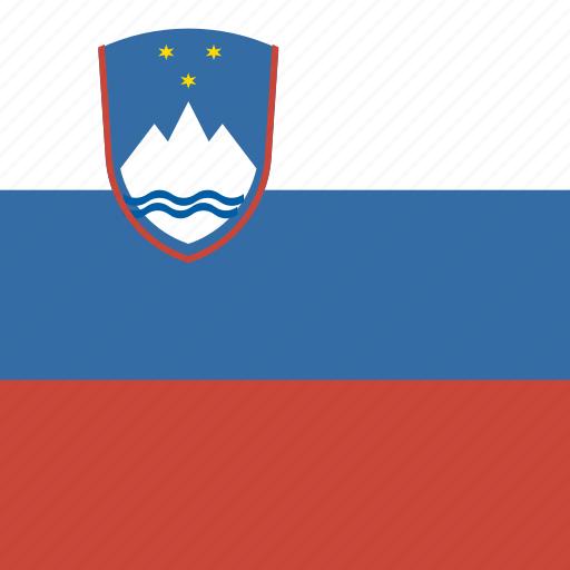 flag, slovenia, square icon