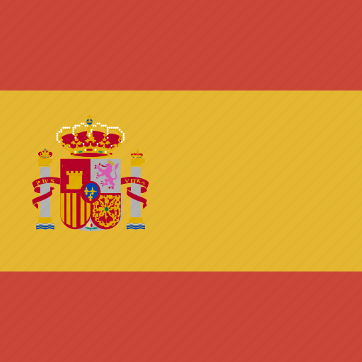 flag, spain, square icon
