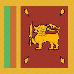 flag, square, srilanka icon