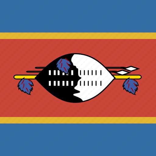 flag, square, swaziland icon