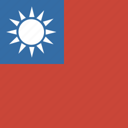 flag, square, taiwan icon
