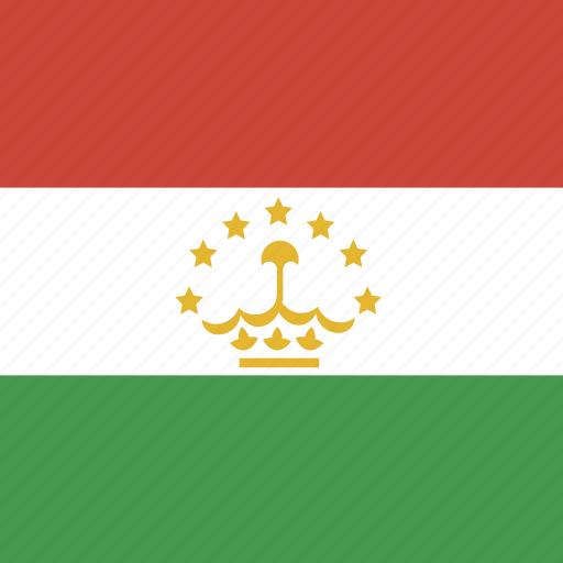flag, square, tajikistan icon