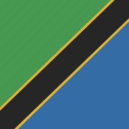 flag, square, tanzania icon