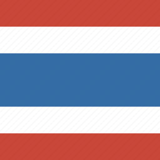 flag, square, thailand icon