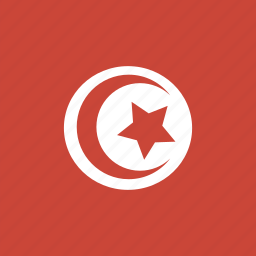 flag, square, tunisia icon