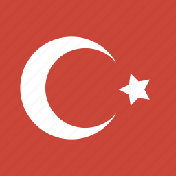 flag, square, turkey icon