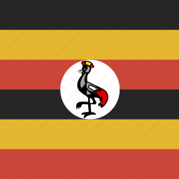 flag, square, uganda icon