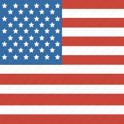 america, flag, square, states, united, us icon
