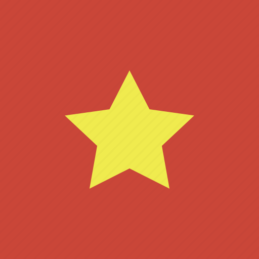 flag, square, vietnam icon