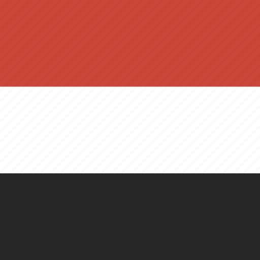 flag, square, yemen icon