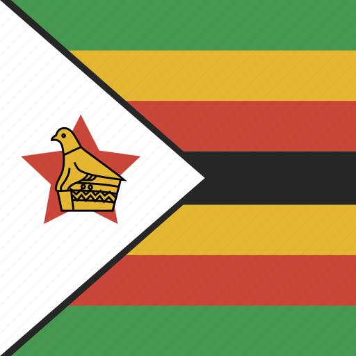 flag, square, zimbabwe icon