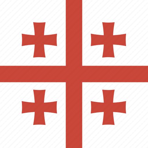 flag, georgia, square icon