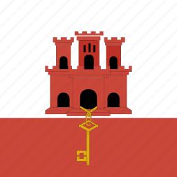 flag, gibraltar, square icon