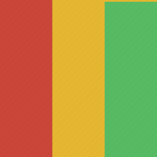 flag, guinea, square icon