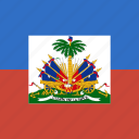 flag, haiti, square icon