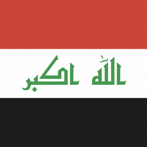 flag, iraq, square icon