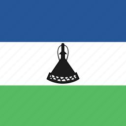 flag, lesotho, square icon