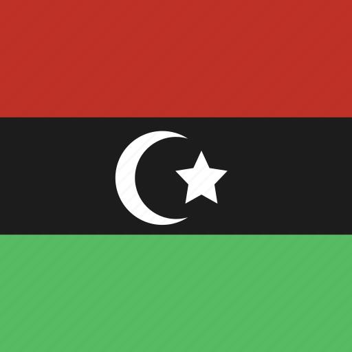 flag, libya, square icon