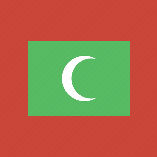 flag, maldives, square icon