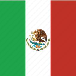 flag, mexico, square icon