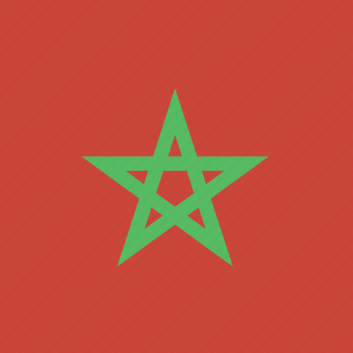 flag, morocco, square icon