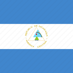flag, nicaragua, square icon