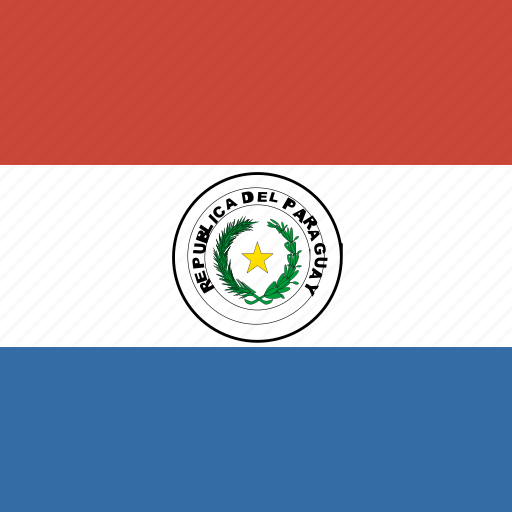 flag, paraguay, square icon