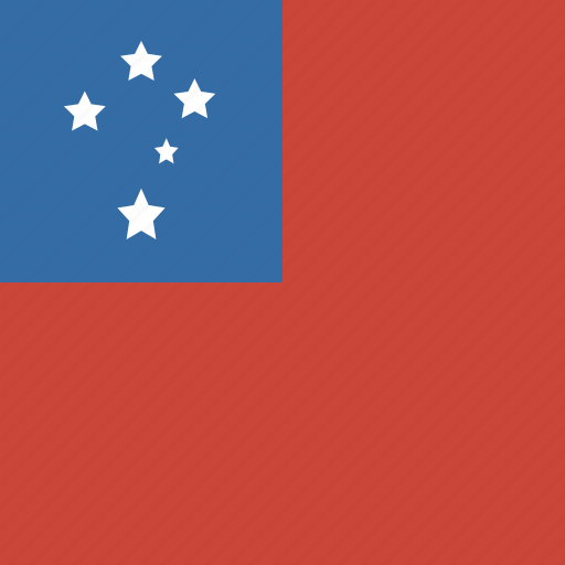 flag, samoa, square icon