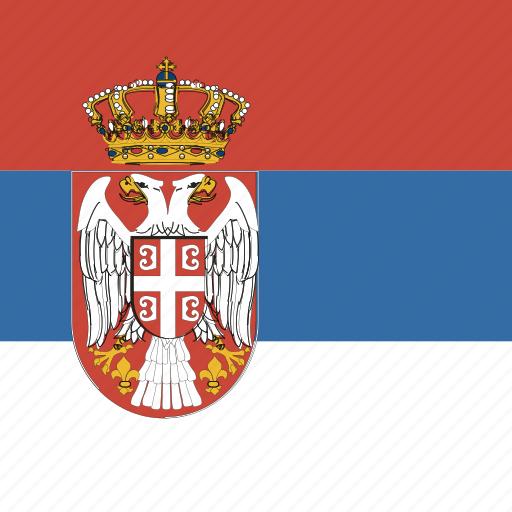 flag, serbia, square icon