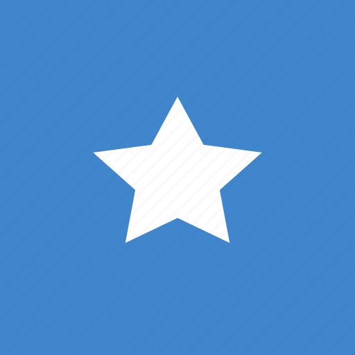 flag, somalia, square icon