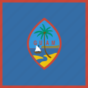 country, flag, guam, square icon