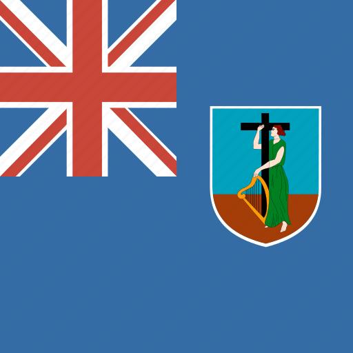 country, flag, montserrat, nation, square icon