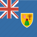 and, caicos, country, flag, islands, nation, square, the, turks icon