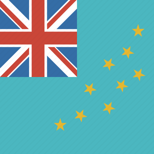 country, flag, nation, square, tuvalu icon