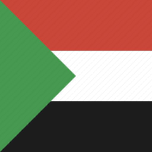 flag, square, sudan icon